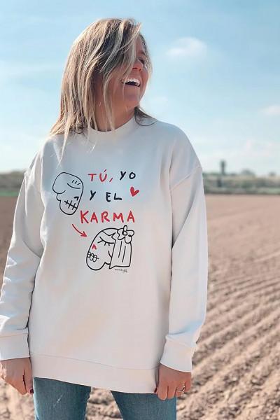 SUDADERA KARMA BLANCO