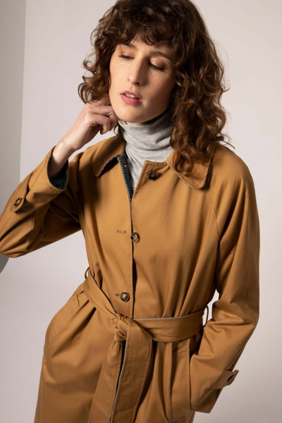 TRENCH REVERSIBLE SOLENE OCRE