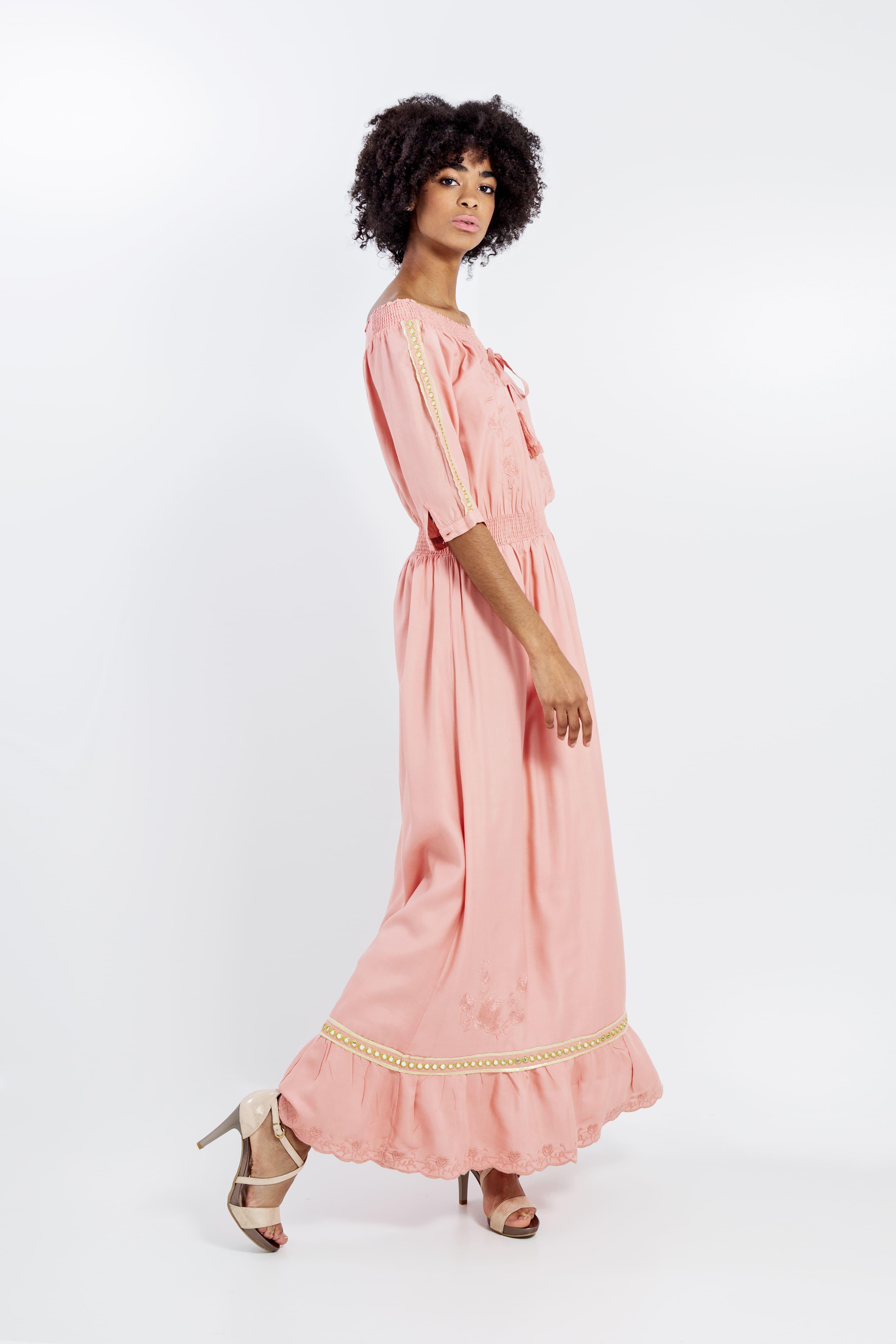 Vestido Mirror Largo Rosa