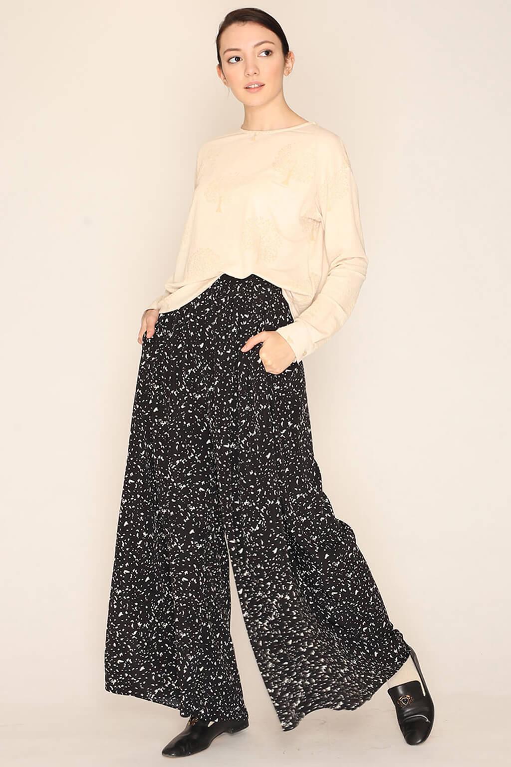 Pantalón oversize negro y blanco